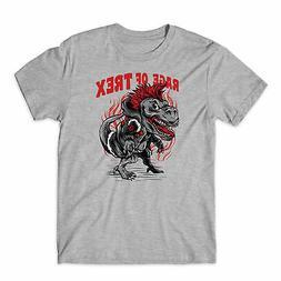 Rage Of Trex T-Shirt Dinosaur Funny Unisex Kids Tee Top