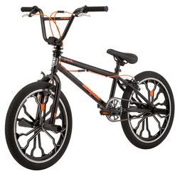 """Mongoose Rebel Freestyle 20"""" Kids BMX Bike Black"""