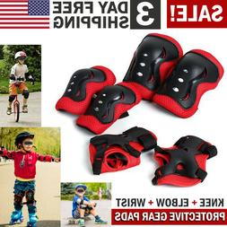 Roller Blading Wrist Elbow Knee Pads Blades Guard 6 PCS Set