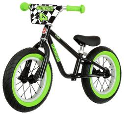Schwinn 12in Boys Skip 4 Balance Bike Black Cycling, New