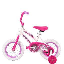 12 Inch Huffy Sea Star Kids Bike for Girls, Pink with Traini