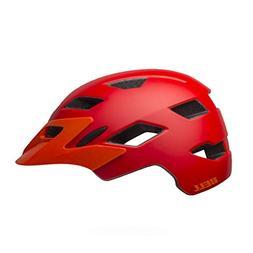 Bell Sidetrack Cycling Helmet - Kid's Matte Red/Orange 50-57