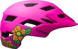 Bell Sidetrack Youth Bike Helmet - Kid's Matte Pink Blossom