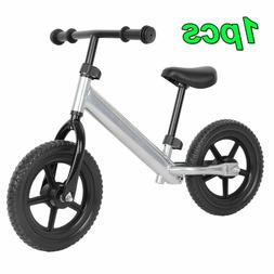 Silver 12'' Wheel Carbon Steel Kids Balance Bicycle Children