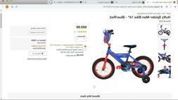 Huffy Spider-Man Cruiser Bike 14 inch - Blue/Red