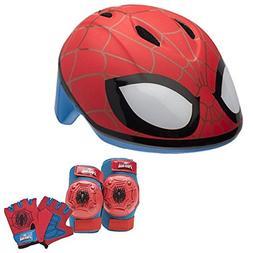 Marvel Spiderman Toddler Skate / Bike Helmet Pads & Gloves -