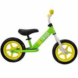 "Nubi Sprint 12"" Green & Yellow Kids Balance Bike"