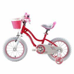 Royalbaby Stargirl Girls Bike, Easy Assembly Kids Bike, Trai
