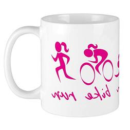 CafePress Swim Bike Run  Mugs Unique Coffee Mug, Coffee Cup