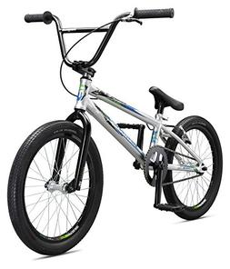 Mongoose Title Pro BMX Race Bike, 20-Inch Wheels, Silver
