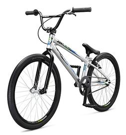 Mongoose Title 24 BMX Race Bike, 24-Inch Wheels, Silver