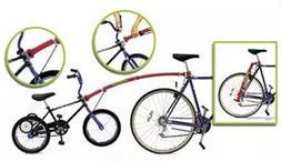 Trail-Gator tow bar - attach kids bike to adult bikes - red