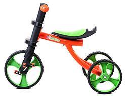 Tauki 12 Inch Kids Tricycle 3 Wheels Toddler Trike, Orange