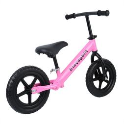 "Ridgeyard Kids 12"" White Balance Bike Classic No-Pedal Learn"