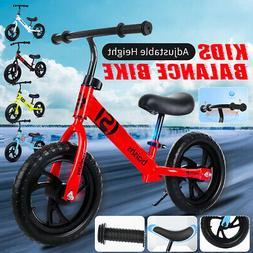 US 12'' Kids Balance Bike Classic No-Pedal Learn To Ride Pre