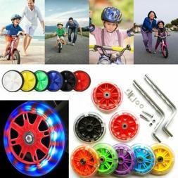 US LED Light Kids Children Training Bike Bicycle Side Stabil
