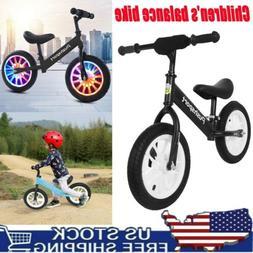 USA SELLER Kids Boys Girls Toddlers Balance Bike With Lumino