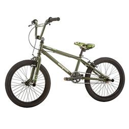 Mongoose Varial 18-Inch Junior Freestyle BMX Bicycle, Army G